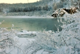 р Колыма зимой