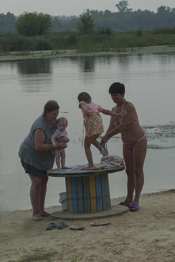 фото с деревенского пляжа