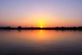 Закат на реке Кубань