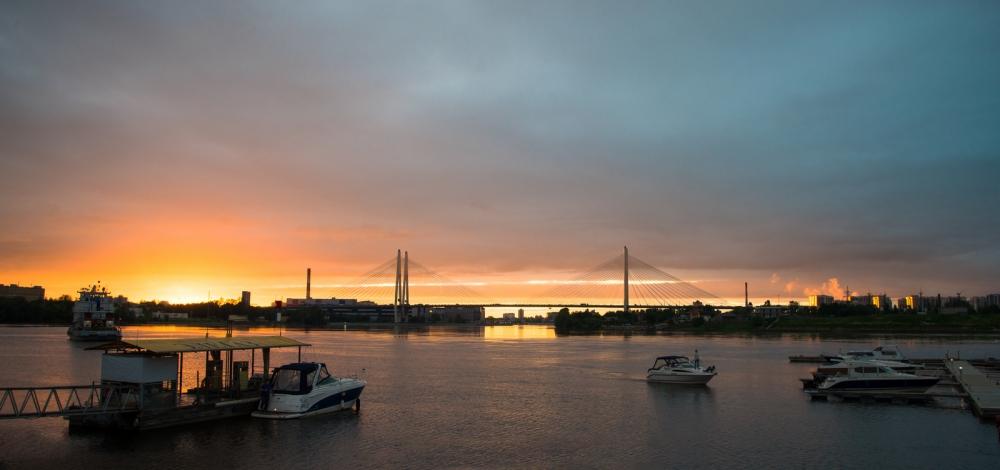 Санкт-Петербург. Вантовый мост.