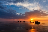 Закат. Чудское озеро