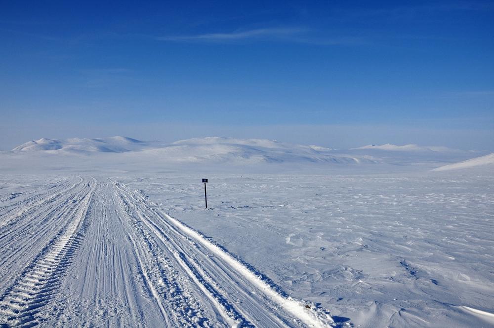 Зимние дороги Чукотки.