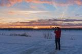 Фото февральского заката.