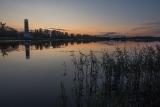 Августовский вечер на  озере.