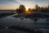 Ноябрьское утро на речке Буянке.
