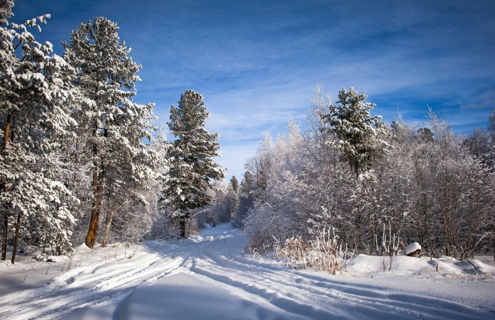 Зима на перевале.