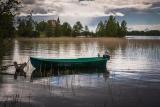 Пасмурным днём на Онежском озере.