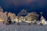 Зимний город Себеж в Псковской области, Россия