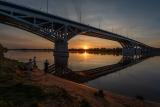Мост на закате.