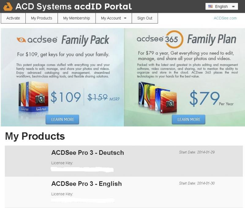 Бесплатная раздача ключей от ACDSee Pro3 версия старенькая но для просмотра